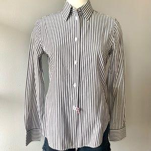 Loro Piana striped poplin button-down dress shirt